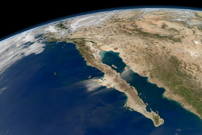 Baja via NASA